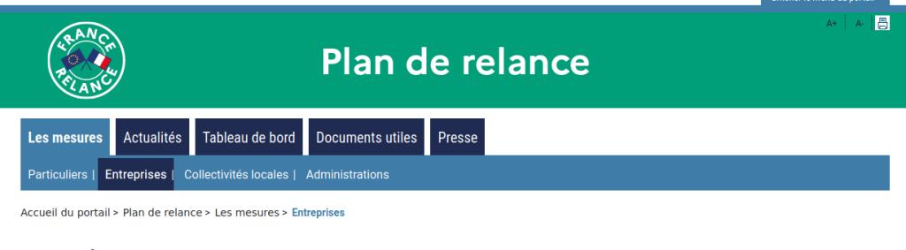 Accueil Plan de Relance